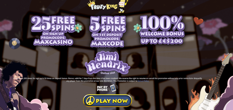 Fruity King Promo Code 2017 Welcome offer