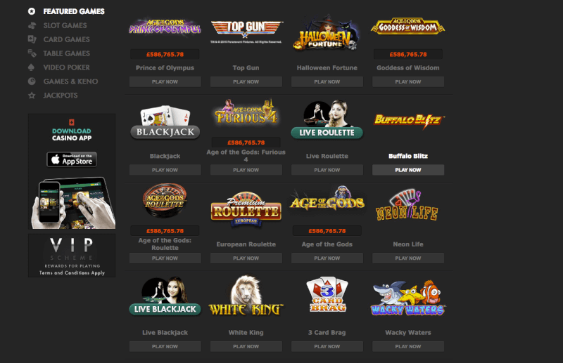 bet365 casino and games