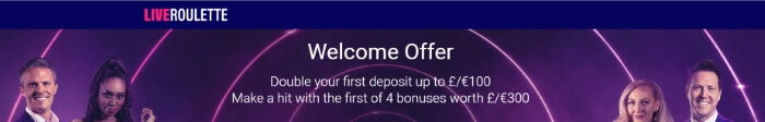LiveRoulette Welcome Offer