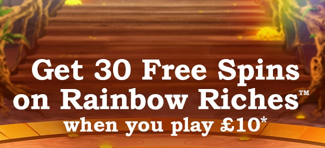 Welcome Offer Rainbow Riches