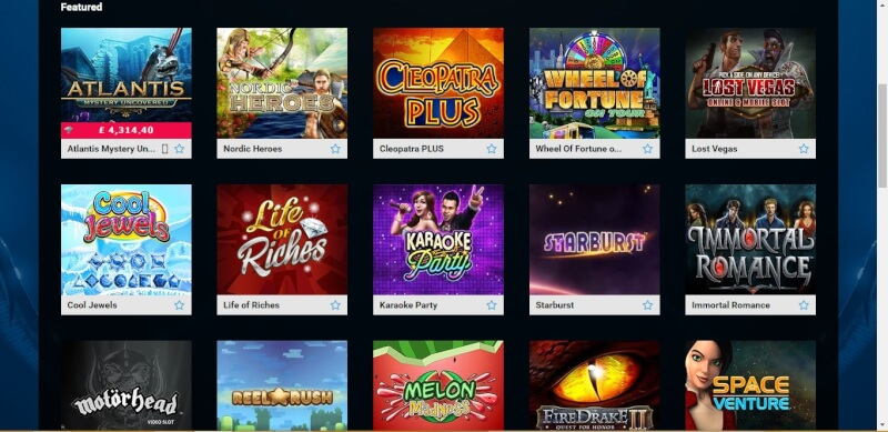 PARTY CASINO - FEATURED GAMES