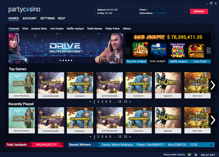 PARTY CASINO-SOFTWARE