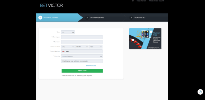 betvictor casino login