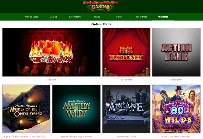 Rainbow Riches Casino All Games