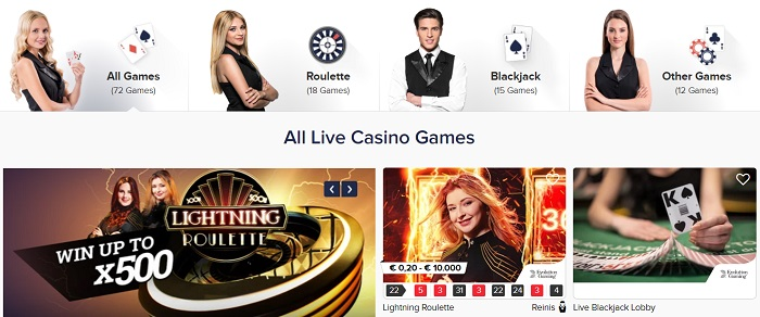 CasinoEuro Live Casino Games
